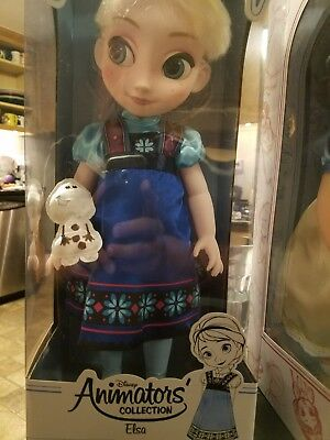 Disney Store Animators' Collection Elsa Doll New MISB