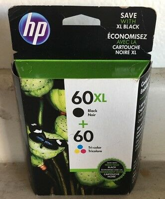 Genuine Hp 60Xl/60 Black + Color Combo Pack N9H59Fn New Sealed Exp 3/19