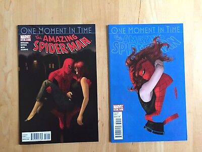 AMAZING SPIDER-MAN #640 & 641 (MARVEL 2010) NM to NM+ LOT! ONE MOMENT IN TIME