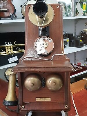 Antique PMG wall phone circa 1930 converted