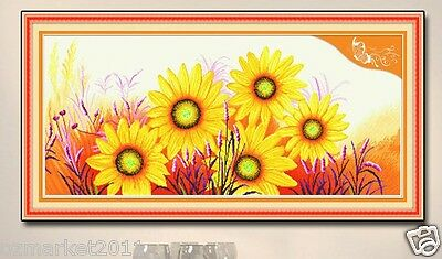 Flowers Decoration Length105*Width50CM Cross-Stitch Sunflower The Sun's Kiss  !)