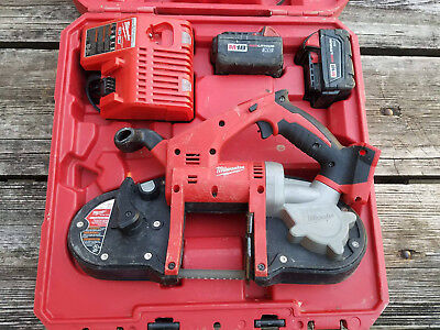 Nice Used Milwaukee 2629-22 M18 Cordless Band Saw Kit 2-Batteries Charger Case