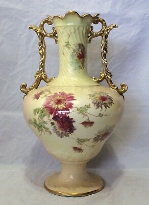 Antique Hand Painted Pottery Vase - Sampson Bridgwood & Son England - Circa 1853