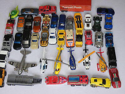 43 - Hotwheels & Matchbox Diecast Toy Cars / Helicopters / Trailers Etc