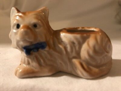 """Vintage Porcelain Cat Kitten Figurine 2 1/2"""" Made In Japan Collectible"""