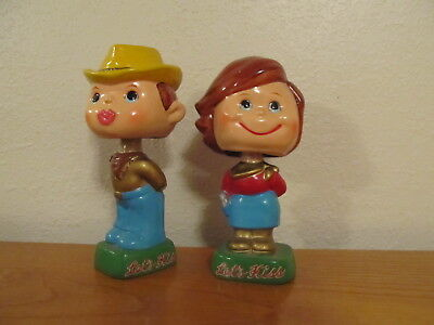 Vintage 1960's Cowboy and Cowgirl Kissing Bobblehead Nodder