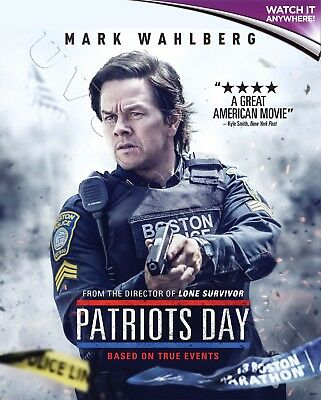 PATRIOTS DAY * Digital HD Ultraviolet UV Code ONLY * Instant Code 24/7