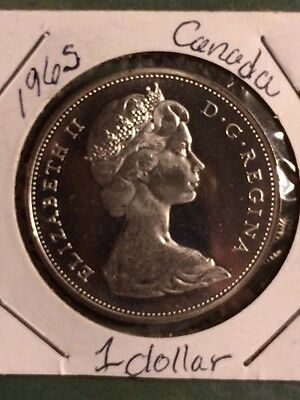 1965 Canada Silver Dollar Proof-Like Brilliant Uncirculated Coin C2769