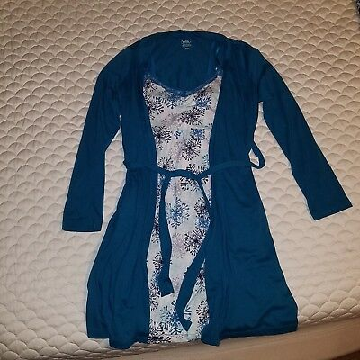 Motherhood Maternity Nursing Gown And Robe Set Bump in the night size small