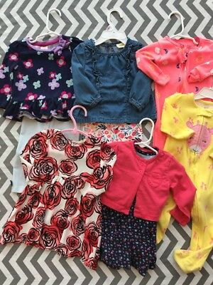 Lot Of 6-12M And 9M Baby Girl Outfits Gymboree Crazy 8 Osh Kosh