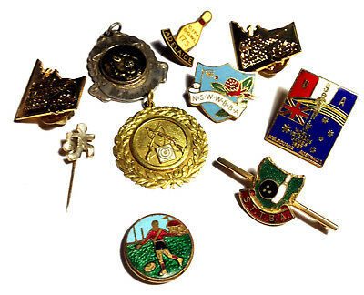 Lot of Various Vintage SPORT RELATED Pins Badges