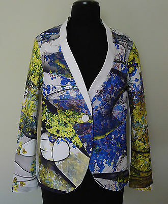 CLOVER CANYON Space Garden BLAZER JACKET M Floral Print NEOPRENE New