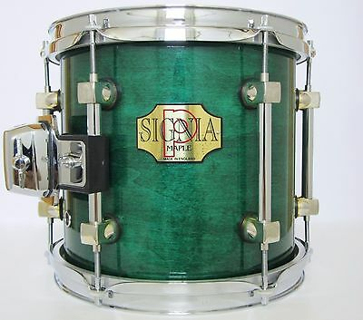 """PREMIER SIGNIA 10"""" x 9"""" TOM / DRUM IN EMERALD GREEN LACQUER (MADE IN ENGLAND)."""