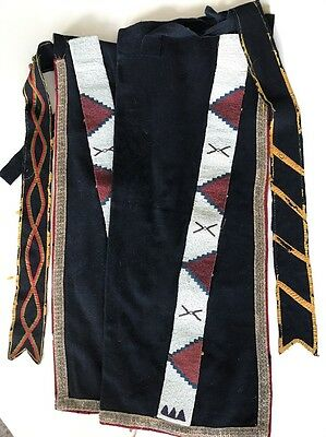 Blackfeet or Sarsi Leggings, Blue Stroud, c.1890