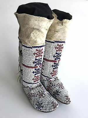 Arapaho Moccasins and Leggings, Sinew-Sewn, c.1900, Provenance