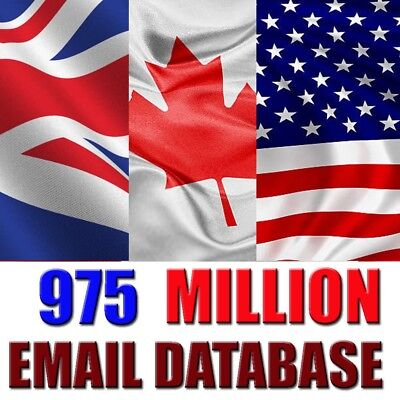 975 Million Database Email Marketing List for business affiliate amazon cpa