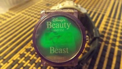 beauty and the beast lithogram watch/used/needs battery/