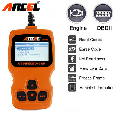 AD310 OBDII Car Fault Code Reader Engine Scanner Diagnostic Analyzer Reset Tools