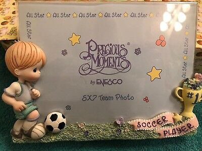 """Precious Moments """"Boy Soccer Player"""" photo frame - with box (351210)"""