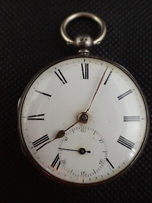 Sterling Silver Fusee Pocket Watch by E.J Thompson Ca 1854