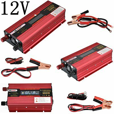 DC12V to AC110V Power Inverter Auto Car Converter 600W 1000W 2000W USB Port 60Hz
