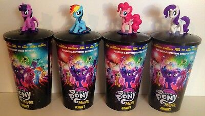 My Little Pony Movie Theater Exclusive Cup Topper Set With 44 oz Cups