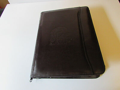 Rare NIKE Embossed All America Camp Leather LEEDS Portfolio Case Mid-90s