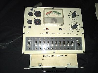 Lafayette TE-15 Tube Tester with Manual  and Carry Case- Vintage