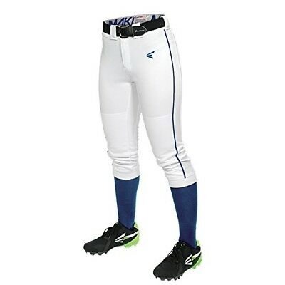 (Large, White/Royal) - Easton Women's Mako Piped Pants. Delivery is Free