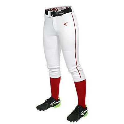 (X-Small, White/Red) - Easton Women's Mako Piped Pants. Best Price