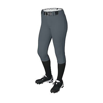 (Large, Charcoal) - DeMarini Girls Belted Pant. Delivery is Free