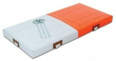 Champro PVC Quilted Double First Base (Orange/White, 71.1cm x 5.1cm )