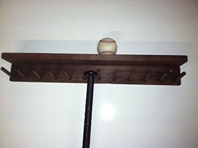 Baseball Bat Rack and Ball Holder Display Meant to Hold 11 Full Size Bat and 6