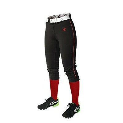 (Medium, Black/Red) - Easton Women's Mako Piped Pants. Delivery is Free