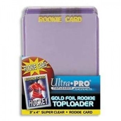 Ultra-Pro Gold Foil Rookie Top Loaders - 25 Per Pack (Quantity of 200)