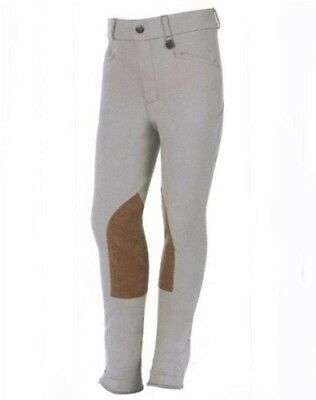 (6, Beige) - Dublin Pytchley Childs Adjustable Breech. Free Delivery