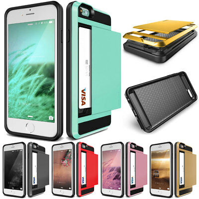 Fashion Shockproof Wallet Credit Card Holder Case Cover Slot For iPhone 8 8 Plus