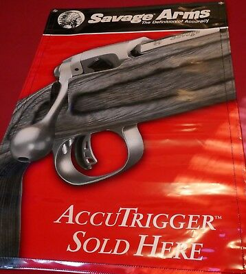 Savage Arms Banner Accutrigger Sold Here NEW! 24x36