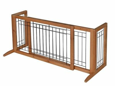 New Adjustable Indoor Solid Wood Construction Pet Fence Gate Free Standing Dog G