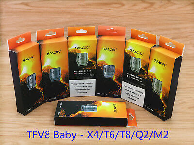 Authentic  SMOK TFV8 Baby Coils V8-Q2/M2/X4/T6//T8 for TFV8 Baby Beast Tank
