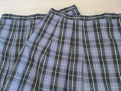 Girls School uniform skirts, size 12 x 2, brown checked