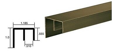 Dark Bronze Surface Mount Double Channel Extrusion