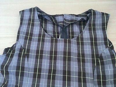 Girls school uniform - dress - size 12, brown checked