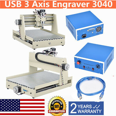 400W USB 3Axis 3040 CNC Router Engraver Engraving Cutting Milling Desktop Cutter