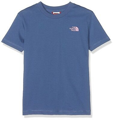 (X-Large, Coastal Fjord Blue) - The North Face Children's Simple Dome T-Shirt