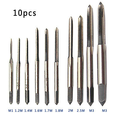 10pc/set M1-M3.5HSS Mini Tap Thread Wire Tapping Threading Grinding Carving Tool