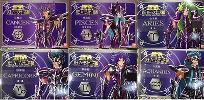 Bandai Cloth Myth Vintage Saint Seiya Set of 6 Figures Die Cast Japan