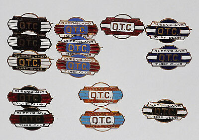 14 X QUEENSLAND TURF CLUB BADGES - 1950's and 1960's