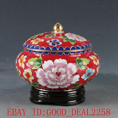 Chinese Cloisonne Hand Carved Flower Pot DY376