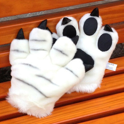 1 Piece Cosplay Paw Claw Tiger Glove Children's Supplies Performance White